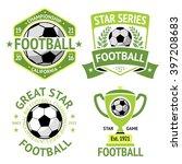 vector set of green vintage... | Shutterstock .eps vector #397208683