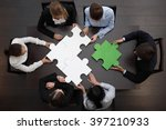 group of business people... | Shutterstock . vector #397210933