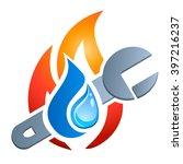 gas  water  plumbing   vector...   Shutterstock .eps vector #397216237