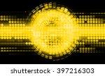 Dark Yellow Circle Wave...