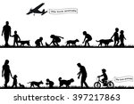 people with pets in the park | Shutterstock . vector #397217863