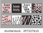 set of 8 hand drawn creative... | Shutterstock .eps vector #397227613