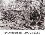 river bank   Shutterstock . vector #397241167