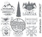 vector set of lumberjack and...   Shutterstock .eps vector #397243627