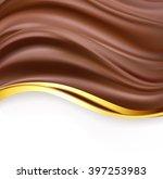 creamy chocolate with golden... | Shutterstock .eps vector #397253983