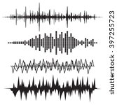 sound wave icon set.  equalize... | Shutterstock . vector #397255723