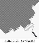 roller brush painting white... | Shutterstock .eps vector #397257403