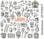 garden tool icon set. hand... | Shutterstock .eps vector #397259677