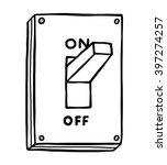 electric switch   cartoon... | Shutterstock .eps vector #397274257