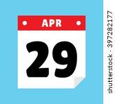 calendar icon flat april 29