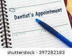 scheduling your dentist's... | Shutterstock . vector #397282183