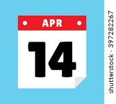calendar icon flat april 14