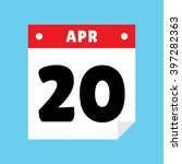 calendar icon flat april 20