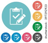 flat fill out checklist icon...