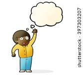 cartoon man asking question... | Shutterstock .eps vector #397303207