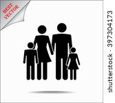 family sign icon  vector... | Shutterstock .eps vector #397304173