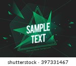 futuristic abstract colorful... | Shutterstock .eps vector #397331467