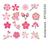 cherry blossom icon set | Shutterstock .eps vector #397331533