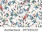 hand drawn watercolor seamless... | Shutterstock . vector #397333123