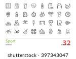 set of outline sport and... | Shutterstock .eps vector #397343047