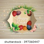 bright easter card. template... | Shutterstock .eps vector #397360447