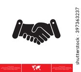 handshake icon  | Shutterstock .eps vector #397363237