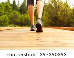 male walking outdoors.  | Shutterstock . vector #397390393