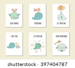 cute hand drawn doodle birthday ... | Shutterstock .eps vector #397404787