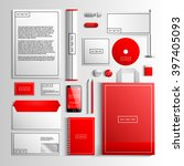 corporate identity template in... | Shutterstock .eps vector #397405093