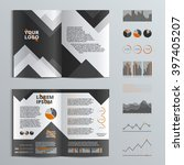 gray brochure template design... | Shutterstock .eps vector #397405207