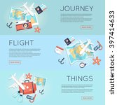 travel to world. trip plan.... | Shutterstock .eps vector #397414633