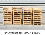 wood pallet placed endways by... | Shutterstock . vector #397414693