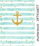 pretty summer card template.... | Shutterstock .eps vector #397416877