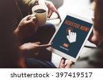 register registration enter... | Shutterstock . vector #397419517