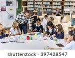 classroom learning mathematics... | Shutterstock . vector #397428547