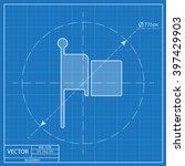 waving flag vector blueprint...