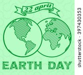 vintage earth day poster. | Shutterstock .eps vector #397430353