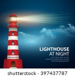 realistic lighthouse  in the... | Shutterstock .eps vector #397437787