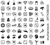 casino set icon vector... | Shutterstock .eps vector #397438033
