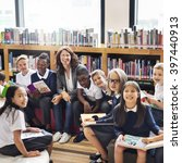 classmate educate friend... | Shutterstock . vector #397440913