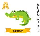 Alligator. A Letter. Cute...