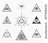 All Seeing Eye Symbol  Vector...