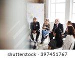 business group seminar meeting... | Shutterstock . vector #397451767