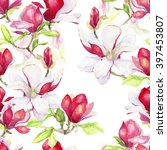 seamless floral pattern with... | Shutterstock . vector #397453807