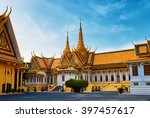 royal palace of phnom pehn ... | Shutterstock . vector #397457617
