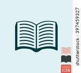 book icon. open paper book icon ...