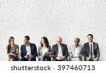human resources interview... | Shutterstock . vector #397460713