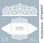 vector die cut envelope... | Shutterstock .eps vector #397464997