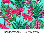 beautiful seamless vector... | Shutterstock .eps vector #397475947