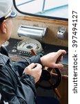 captain of small trading ship... | Shutterstock . vector #397494127